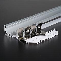 Aluminium sarok profil LED szalaghoz, opál burával (3356)