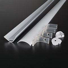 Aluminium sarokprofil LED szalaghoz, opál burával (3363)