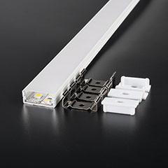 Alumínium U profil (felületre) fehér, LED szalaghoz, opál burával (3367)