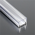 Aluminium profil LED szalaghoz (AP-9981) Átlátszó