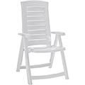 Aruba dönthető műanyag kerti szék - fehér