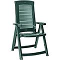 Aruba dönthető műanyag kerti szék - sötét zöld