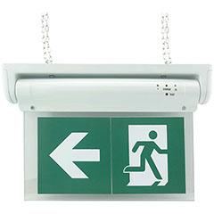 LED kijáratjelző, akkumulátoros (1W) hideg fehér