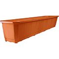 Balcony planter műanyag virágláda 80 - terrakotta - sötét narancssárga