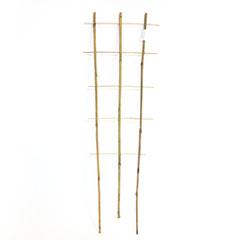 Bambusz növényfuttató létra, 3 tagú (105 cm) 100%-ban természetes bambusz