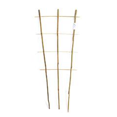 Bambusz növényfuttató létra, 3 tagú (75 cm) 100%-ban természetes bambusz