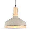 - Beton + fa burás csillár (E27) bézs - D:290 mm
