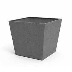Beton szögletes műanyag virágláda (48 cm) sötétszürke