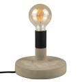 Cemento beton talpas asztali lámpa (E27) szürke