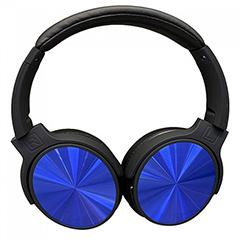 Bluetooth fejhallgató Rotate (500 mAh akkuval) kék