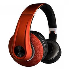 Bluetooth fejhallgató (500 mAh akkuval) piros