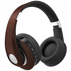 Bluetooth fejhallgató (500 mAh akkuval) barna