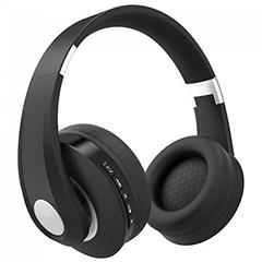 Bluetooth fejhallgató (500 mAh akkuval) fekete