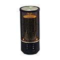 Bluetooth hangszóró Cage, akkus USB asztali lámpa (2x3W) fekete