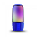 Bluetooth hangszóró, RGB, akkus USB asztali lámpa (2x3W) - kék