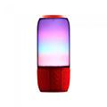 Bluetooth hangszóró, RGB, akkus USB asztali lámpa (2x3W) - piros