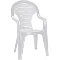 Bonaire kartámaszos műanyag kerti szék - fehér