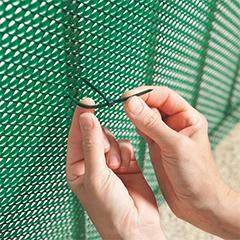 Rögzítő hálókhoz és rácsokhoz BRIDFIX gyorskötöző (14 cm, 50 db) zöld