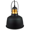 Carol vintage fém csillár (E27) - fekete színű bura