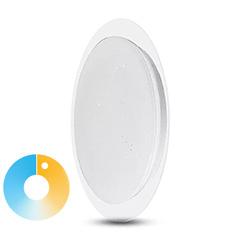 Mennyezeti DESIGN LED lámpa, átlátszó szegéllyel (40W - CCT), távirányítóval
