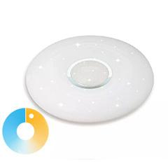 Design csillámló CCT mennyezeti LED lámpa (40W) távirányítóval, fehér