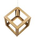 Champion-IV geometrikus függeszték (E27) - pezsgőarany kocka