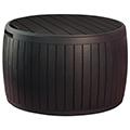 Circa wood fa hatású műanyag kerti láda 140L - barna
