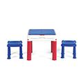 Construct Table műanyag játék asztal - kék - piros - fehér