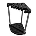 Corner tool rack műanyag kerti szerszámtartó - fekete