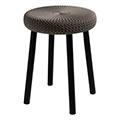 Cozy bar stool műanyag bárszék fém lábakkal (alacsony) - sötétbarna