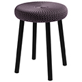 Cozy bar stool műanyag bárszék fém lábakkal (alacsony) - sötétlila