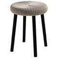 Cozy bar stool műanyag bárszék fém lábakkal (alacsony) - fém szürke