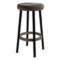 Cozy bar stool műanyag bárszék fém lábakkal (magas) - sötétbarna