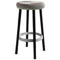 Cozy bar stool műanyag bárszék fém lábakkal (magas) - fém szürke