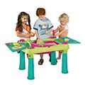 Creative fun table műanyag kerti játék asztal - világos zöld - lila