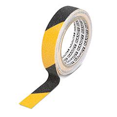 Csúszásmentes ragasztószalag figyelemfelhívó (5 m x 25 mm) - fekete-sárga sávos