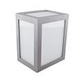 Cube oldalfali dekor lámpatest - szürke (12W) hideg fehér
