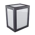 Cube oldalfali dekor lámpatest - fekete (12W) hideg fehér