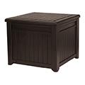 Cube wood műanyag kerti tároló 208L - barna