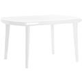 Elise műanyag kerti asztal - fehér