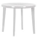 Llisa műanyag kerti asztal - fehér