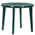 Lisa műanyag kerti asztal - sötét zöld