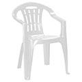 Mallorca kartámaszos műanyag kerti szék - fehér