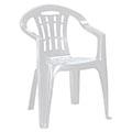 Mallorca kartámaszos műanyag kerti szék - világos szürke
