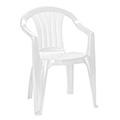 Sicilia kartámaszos műanyag kerti szék - fehér