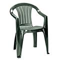Sicilia kartámaszos műanyag kerti szék - sötét zöld