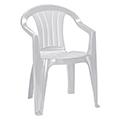 Sicilia kartámaszos műanyag kerti szék - világos szürke