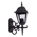 Damas-L oldalfali lámpa IP44 (E27) - fekete