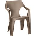 Dante kartámaszos alacsony támlás műanyag kerti szék - cappuccino