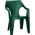 Dante kartámaszos alacsony támlás műanyag kerti szék - sötét zöld